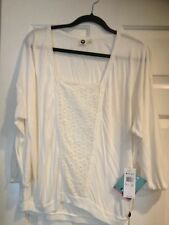 WOMENS/JUNIORS ROXY CREAM COLOR SIZE  Large top Spring Summer CASUAL Shirt