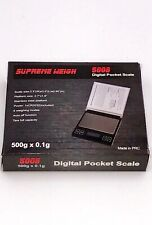 New Pocket Supreme Weigh 5008 CD Flip Jewelry Retail Scale 500g with Battery