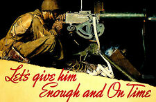 """24"""" x 36"""" Poster Print: Norman Rockwell: 'Let's Give Him Enough And On Time' WW2"""