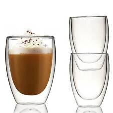 6x 350ML Double Wall Layer Glass Tea Wine Mug Heat Resistant Insulate Coffee Cup