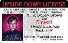 new STRANGER THINGS Millie Bobby Brown ELEVEN Psychic Hawkins IN Drivers License