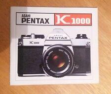 Asahi Pentax K1000 owners manual