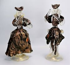 Vintage Murano Dancer figurines Copper Fleck Venetian glass