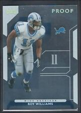 ROY WILLIAMS 2006 PLAYOFF NFL PLAYOFFS GOLD PROOF LIONS SP #047/100 $15