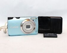 Canon PowerShot A3200 IS 14.1MP 5x Optical Zoom Lens Digital Camera Blue