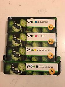 Genuine Original HP 970XL 971XL Multipack 4-Pack Printer Toner Ink Cartridges
