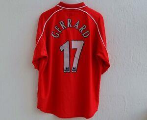 GERRARD 17 Liverpool Shirt 2000/2002 - Home Vintage Jersey Carlsberg Size 46/48