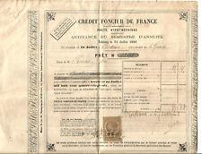 Bordeaux 1889. Crédit foncier de France. Document intéressant.