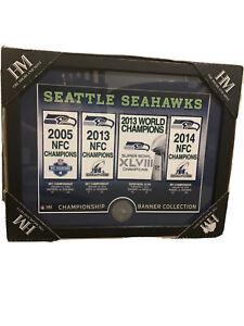 SEATTLE SEAHAWKS NFC CHAMPIONS HIGHLAND MINT COIN SUPER BOWL XLVIII Banner
