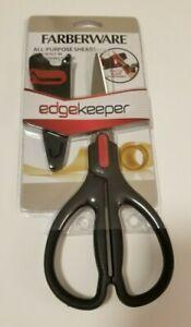 Farberware All-Purpose Shears EDGEKEEPER Scissors w/ Built-In Sharpening Sleeve
