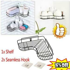 Punch-Free Corner Shower Shelf Rack Kitchen Bathroom Rack Accessory Storage
