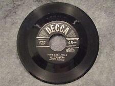 "45 RPM 7"" Record Rush Morgan The Mistletoe Kiss & Blue Christmas Decca 9-24766"