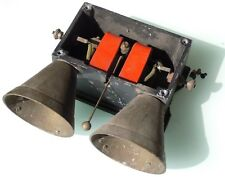 Telefon-Zusatzklingel, verm. um 1930, Gussgehäuse, Messingklingeln