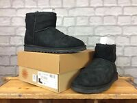 UGG LADIES UK 5.5 EU 38 CLASSIC MINI BLACK BOOTS WINTER COSY UGGS AUSTRALIA £135