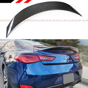 FOR 2017-2021 INFINITI Q60 V2 HIGH KICK DUCKBILL CARBON FIBER TRUNK SPOILER WING