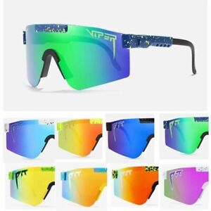 Unisex Fashion Classic Sunglasses Mirrored Green Lens Pit Viper Polarize Eyewear