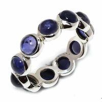 Iolite Natural Gemstone Handmade 925 Sterling Silver Ring Size 7 R-140