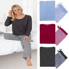 Damen Nachtwäsche Pyjama Schlafanzug Nachtanzug Alfa Baumwolle Größe S M L XL++