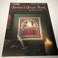 Santa's Great Book Cross Stitch Pattern by Marilyn Gandre Leisure Arts No 2187