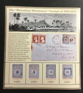 Hawaiian Missionaries Stamps Sheet MNH 2002 USA Scott #3694