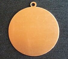 Copper Round Stamping Engraving Blank with loop Circle Blank Charm Jewellery
