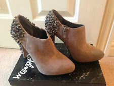 *BNIB £225 SAM EDELMAN RENZO PUTTY BEIGE SUEDE STUD SPIKE SHOE BOOTS UK 36 US 6