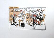 Stanislas Sérigraphie Hommage à Tintin EA signée 35X25