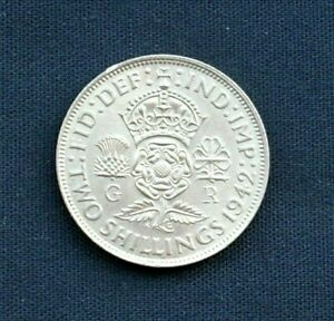 Vintage George VI Two Shillings Silver Coin 1942 - Unc/EF+
