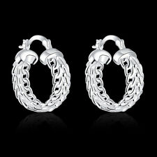 Promotion Price 925Sterling Silver Heavyweight Icker lady Earrings GE715