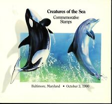 US FDC #2508-2511 USPS Ceremony Program 1990 MD Sea Creatures Dual Joint Russia