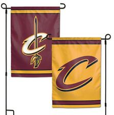 "CLEVELAND CAVALIERS DOUBLE SIDED GARDEN FLAG 12""X18"" YARD BANNER OUTDOOR RATED"