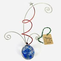 """Green Mountain Glass Retired Hailey's Comet Hand Blown Ornament 10"""""""