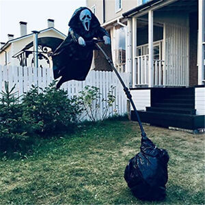 200cm Creative Ghostface Scarecrow Halloween Scary Scarecrow Garden Decoration