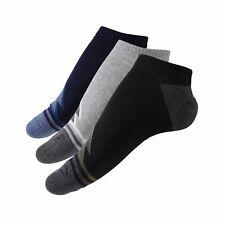 6 Pairs Mens Low Cut Ankle Stripe Socks,100% Cotton Sport Socks,Antibacterial