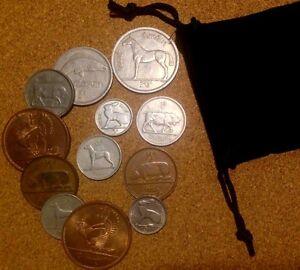 Ireland (Irish) - Bag of 12 Irish Coins Half Penny To Half Crown set
