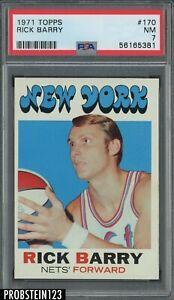1971 Topps Basketball #170 Rick Barry New York Nets RC Rookie HOF PSA 7 NM
