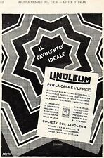Pubblicità vintage Linoleum pavimenti arredo casa Milano advertising reklame A7
