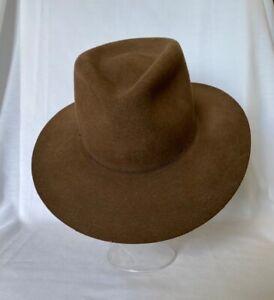 Vintage 1984 Indiana Jones Authentic John Stetson Hat MEDIUM 100% Wool Lucasfilm