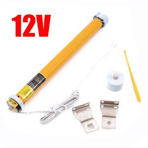 12V DC 30RPM 25mm DIY Electric Roller Blind / Shade Tubular Motor w/ Holder Set