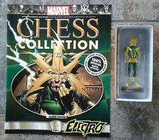 Marvel Chess Collection #13 Electro Black Pawn Resin Figure & Magazine
