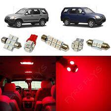 6x Red LED lights interior package kit for 2002-2006 Honda CR-V HV2R