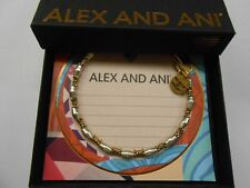 Alex and Ani Juniper Beaded Bangle Bracelet Two Tone NWTBC