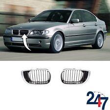 NEW BMW 3 SERIES E46 2001 - 2005 SEDAN TOURING KIDNEY GRILL PAIR SET LEFT RIGHT