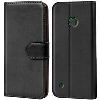 Book Case für Nokia Lumia 530 Hülle Flip Cover Handy Tasche Schutz Hülle Schale