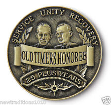 OLDTIMERS HONOREE 25 + YRS  AA  12 Step Recovery Program Bronze Coin /Token/Chip