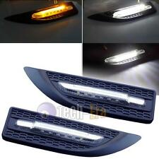 Universal LED Switchback Dual Color Lights White Amber Side Marker Blinker Bulb