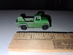 Vintage Mini Tootsie Toy Green Die Cast Metal Tow Truck Wrecker