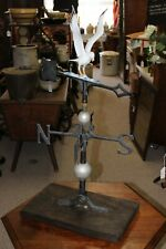Antique American Mw Barn Flying Painted Sea Gull Weathervane Complete w Mount