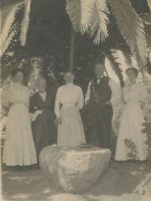 ANTIQUE VINTAGE 1911 ESCONDIDO CA PALM TREES CAMERA ARTISTIC FAMILY RPPC PHOTO