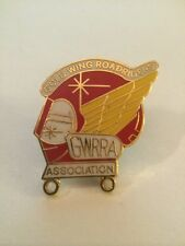 Vintage Gold Wing Road Riders Association GWRRA enamel & metal lapel hat tie pin